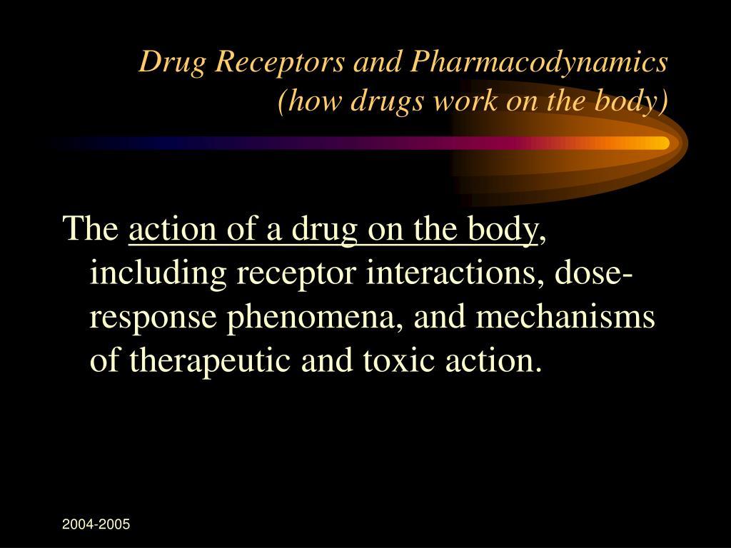 Drug Receptors and Pharmacodynamics