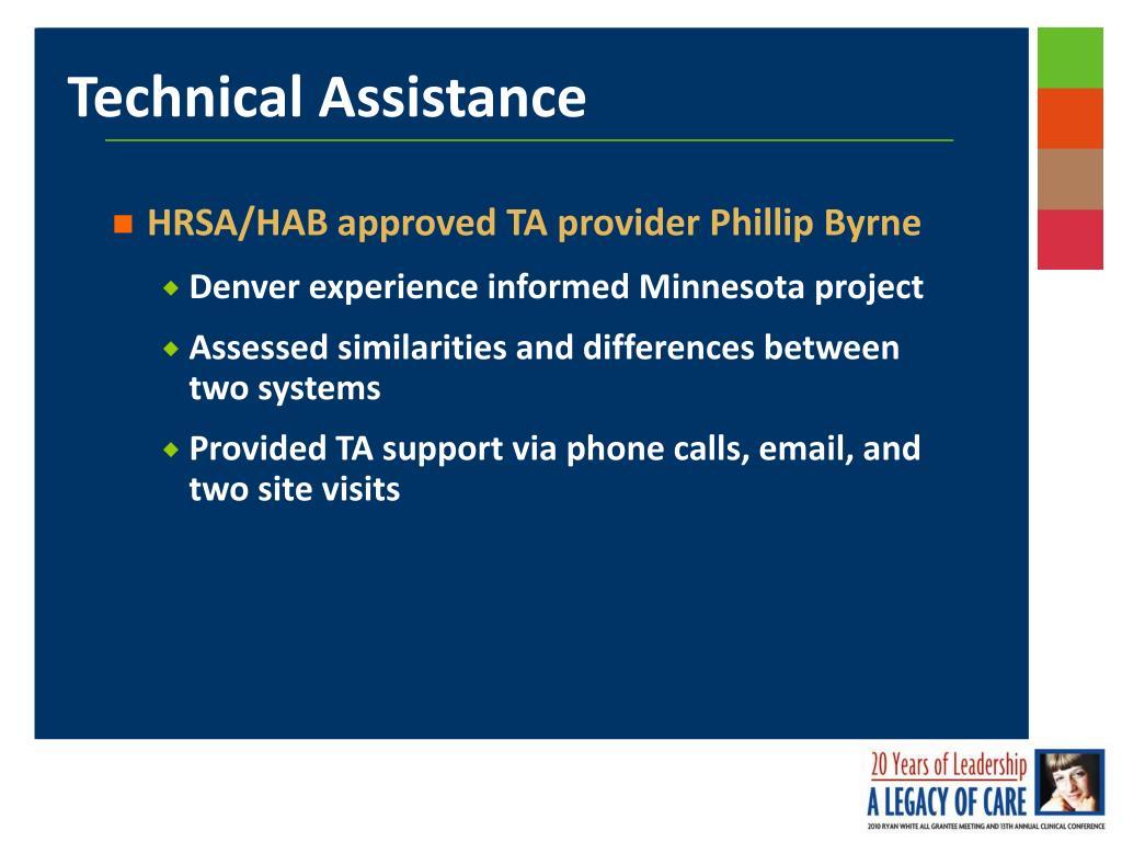 HRSA/HAB approved TA provider Phillip Byrne