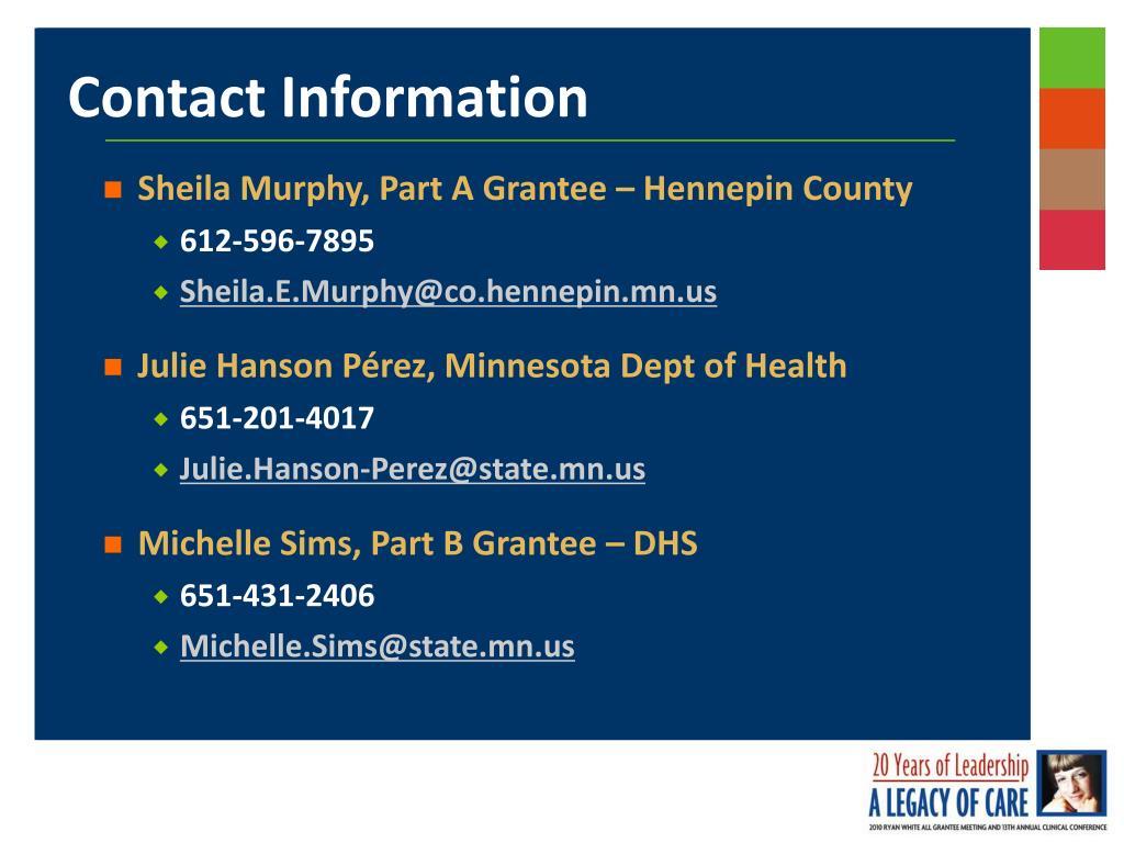 Sheila Murphy, Part A Grantee – Hennepin County