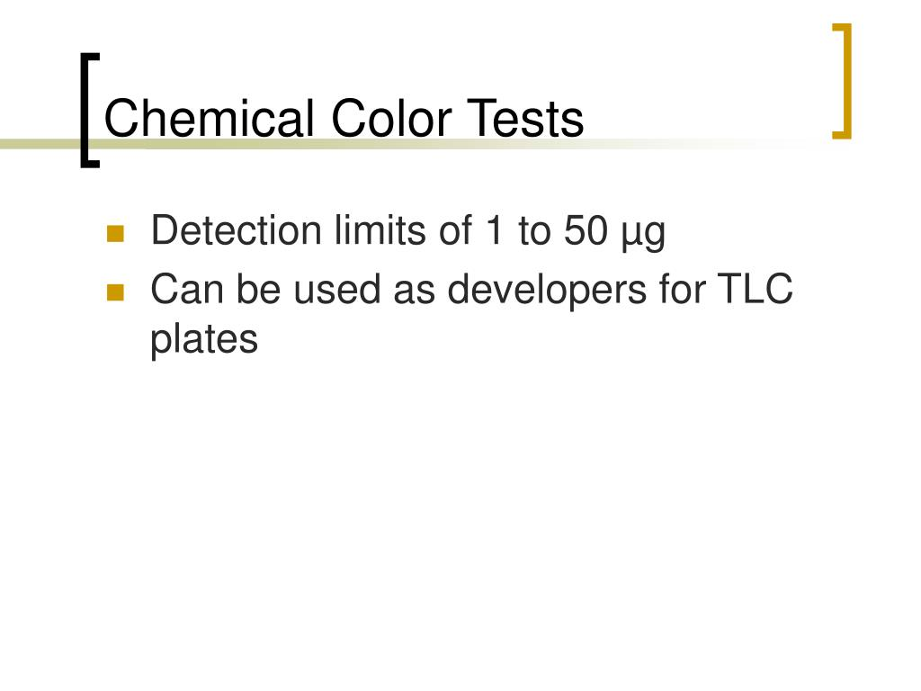 Chemical Color Tests