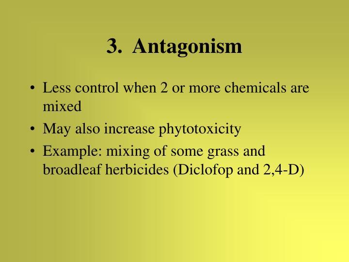 3.  Antagonism