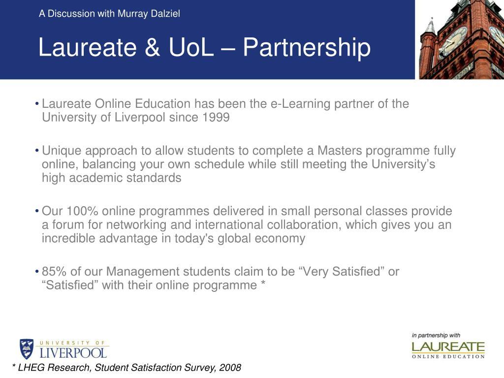 Laureate & UoL – Partnership