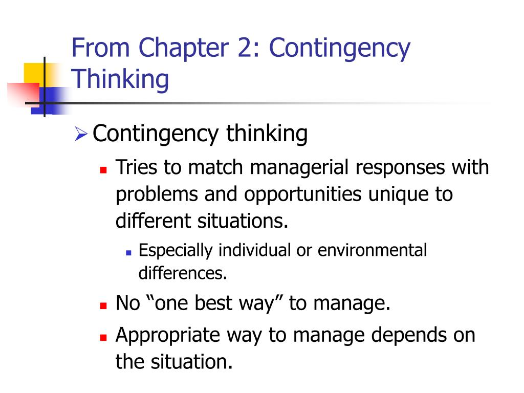 From Chapter 2: Contingency Thinking