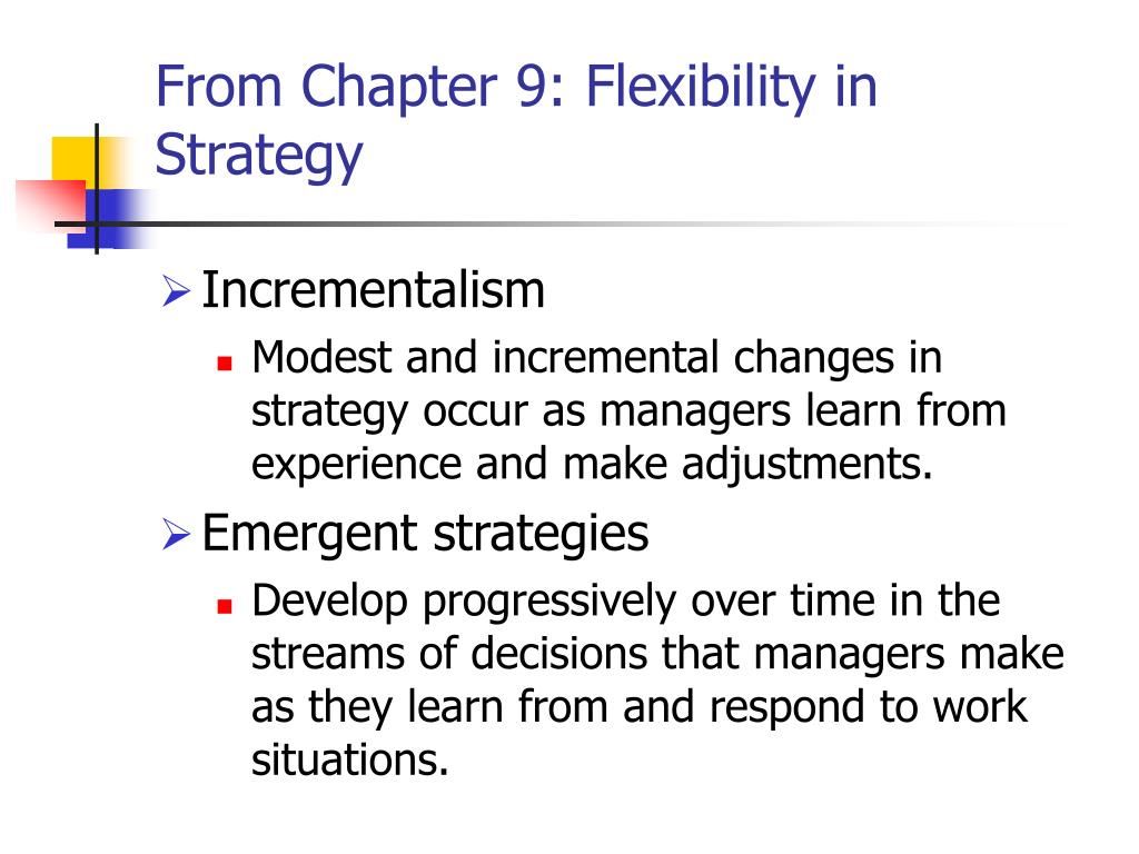 From Chapter 9: Flexibility in Strategy