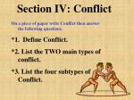 section iv conflict