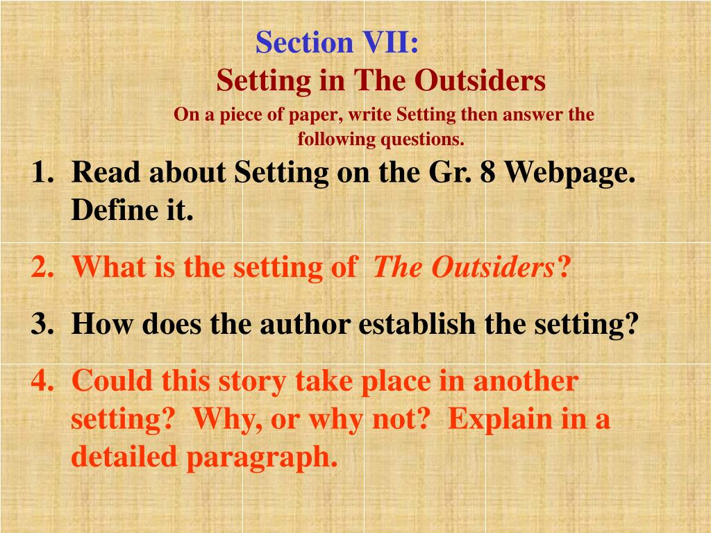 Section VII: