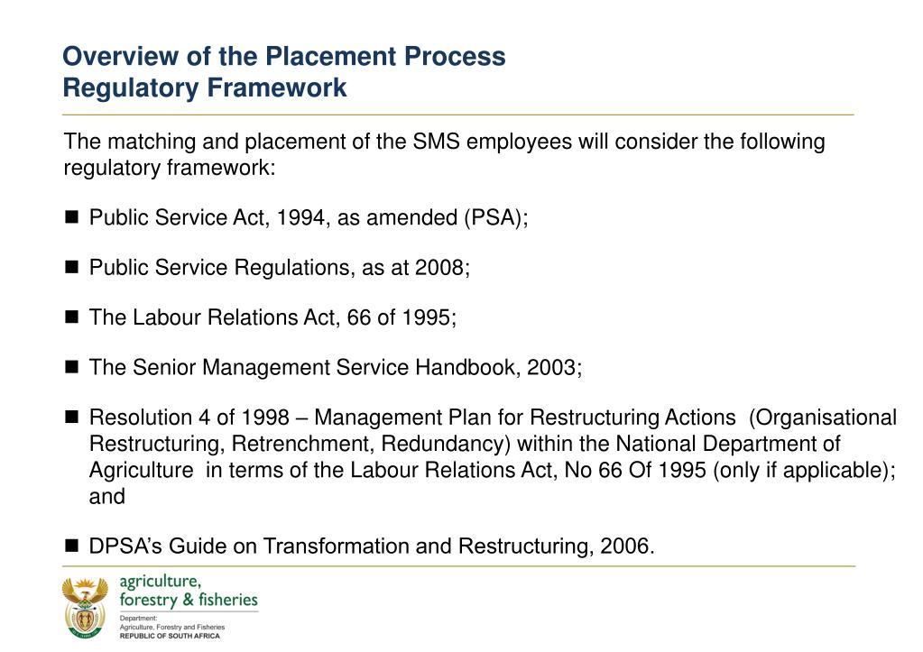 Overview of the Placement Process