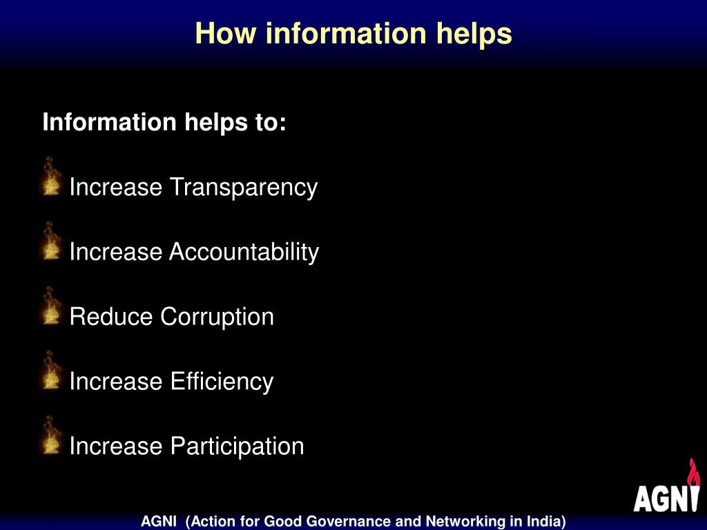 How information helps