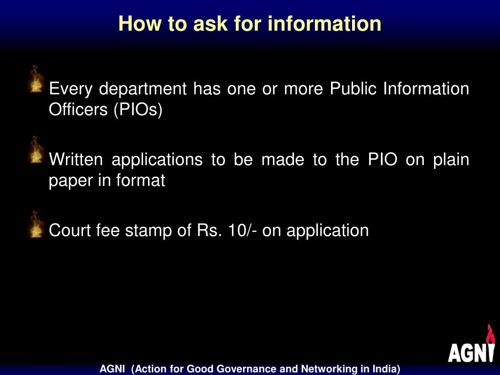 How to ask for information