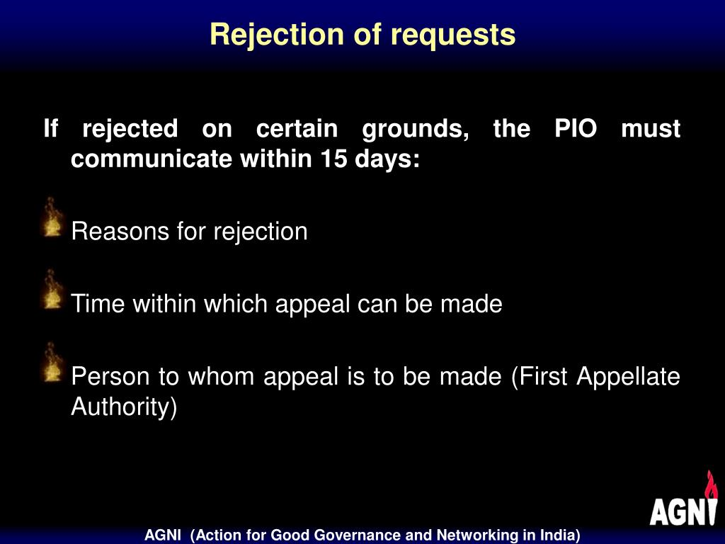 Rejection of requests