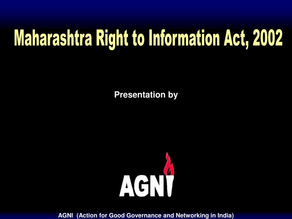 Maharashtra Right to Information Act, 2002