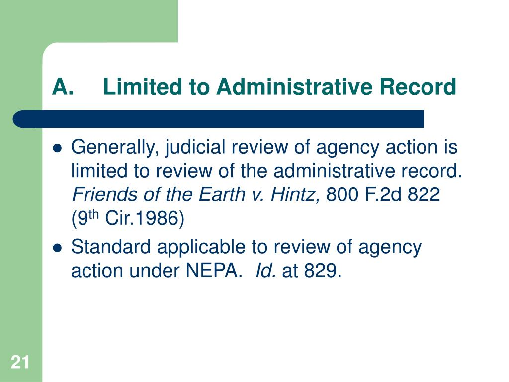 A.Limited to Administrative Record