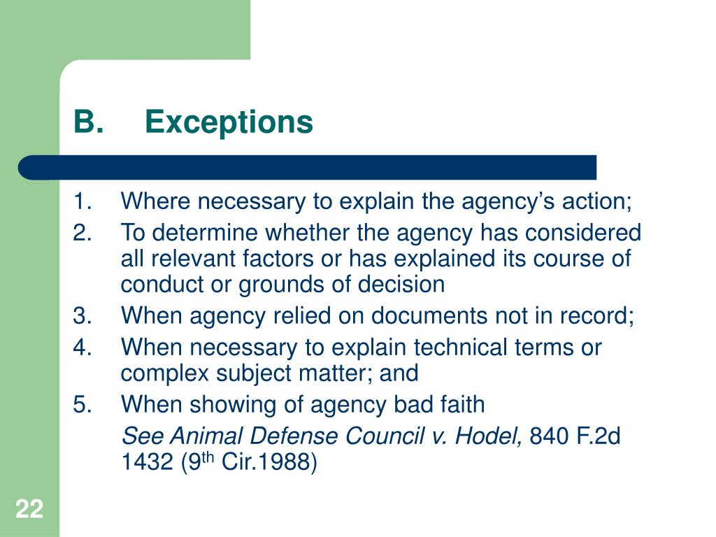 B.Exceptions