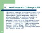 d new evidence in challenge to eis
