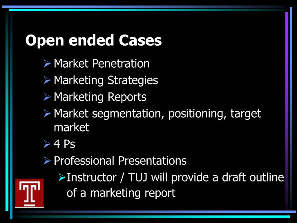 Open ended Cases