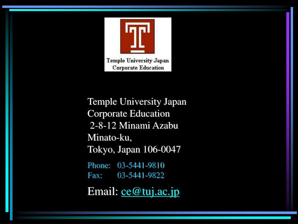 Temple University Japan