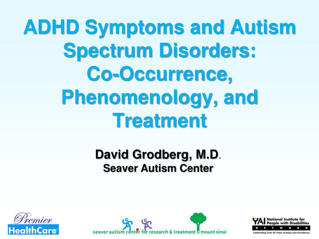 ADHD Symptoms and Autism Spectrum Disorders: