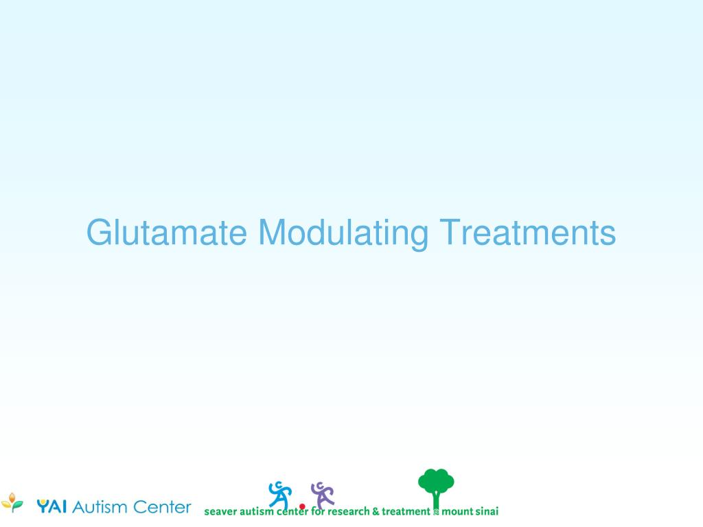 Glutamate Modulating Treatments