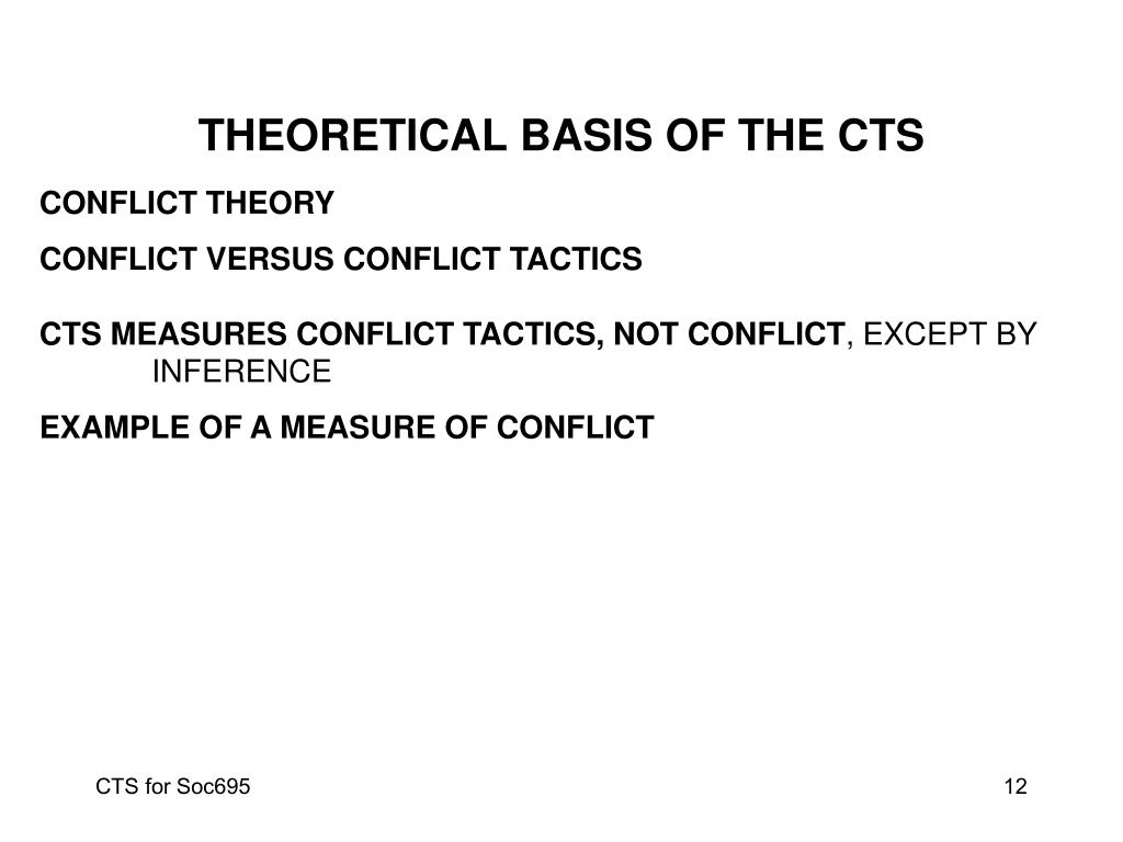 THEORETICAL BASIS OF THE CTS