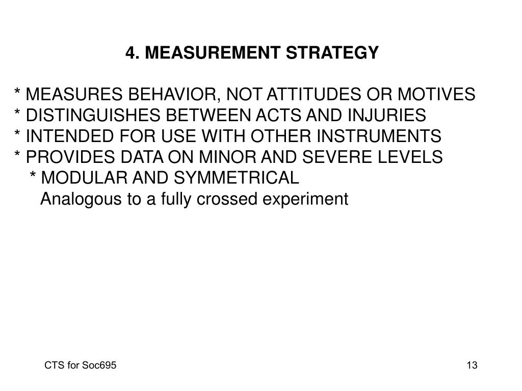4. MEASUREMENT STRATEGY
