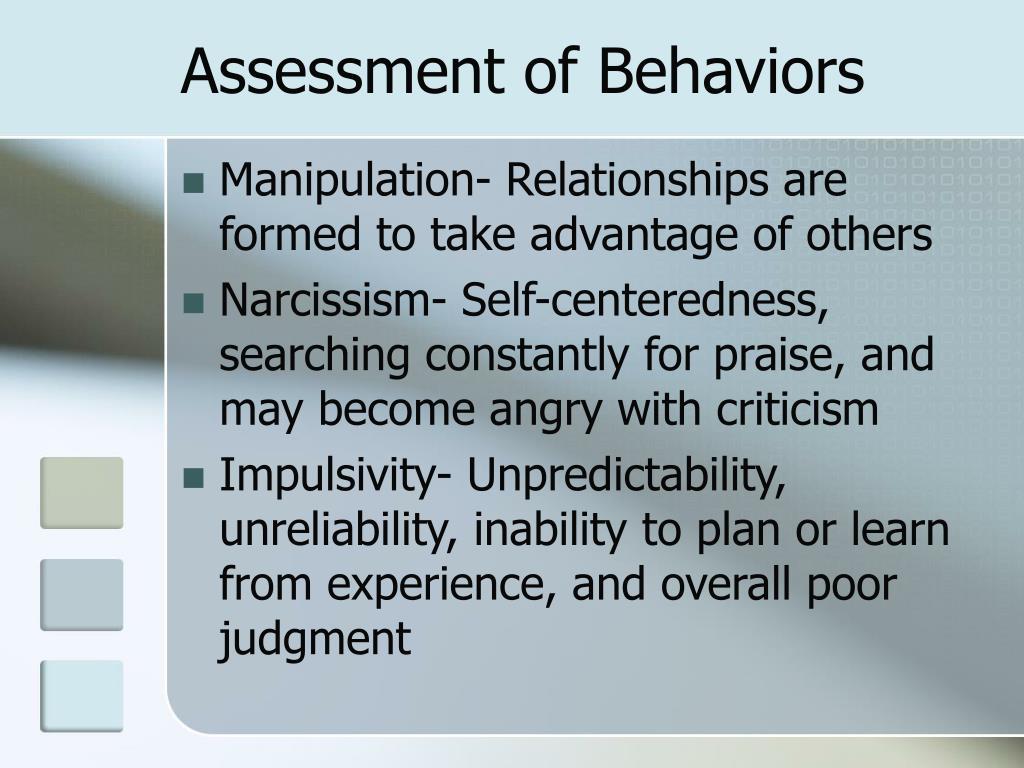 Assessment of Behaviors