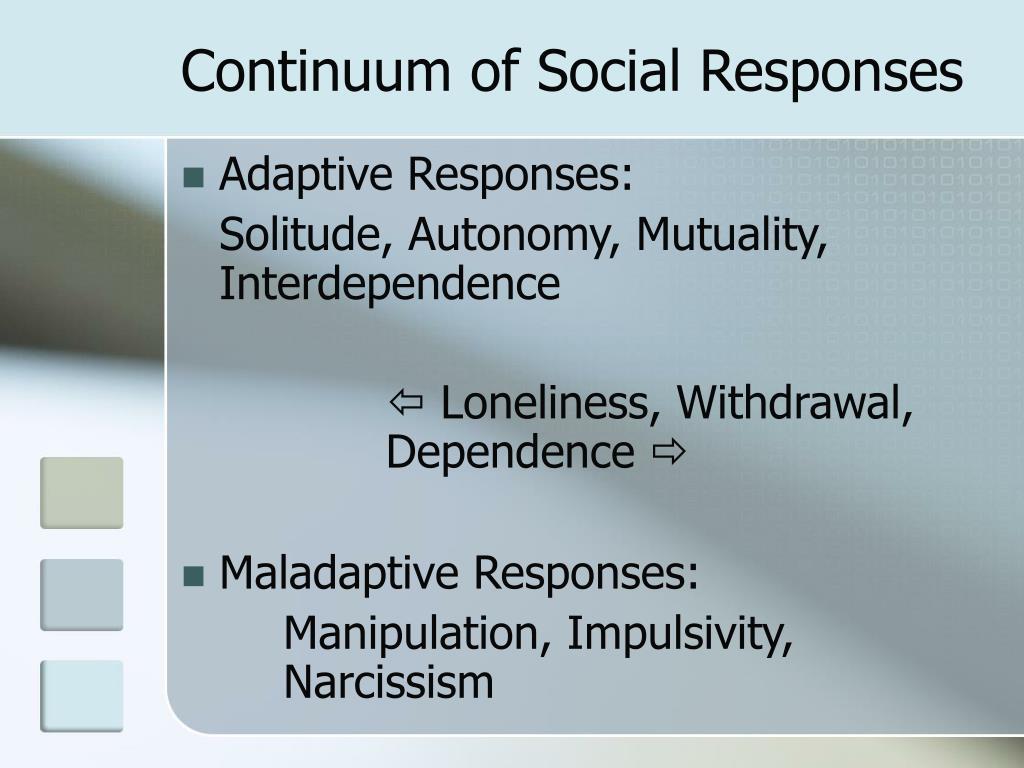 Continuum of Social Responses