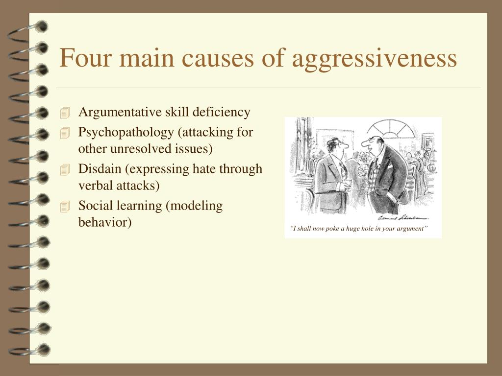 Four main causes of aggressiveness