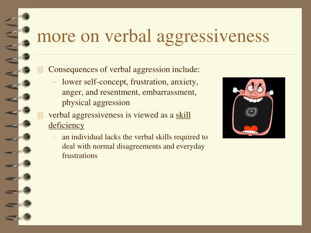 more on verbal aggressiveness