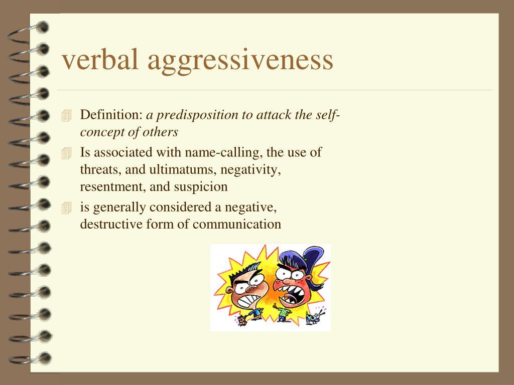 verbal aggressiveness