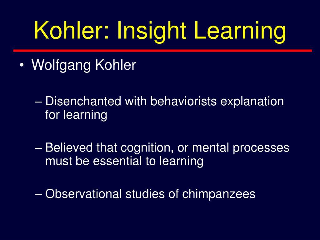 Kohler: Insight Learning