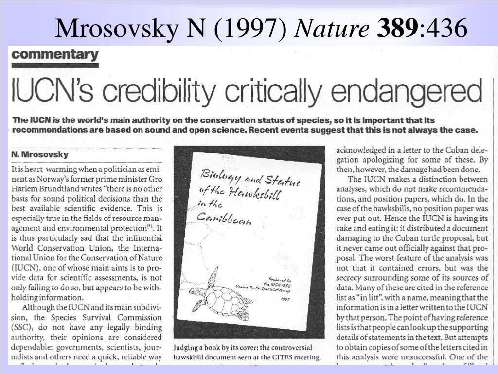 Mrosovsky N (1997)