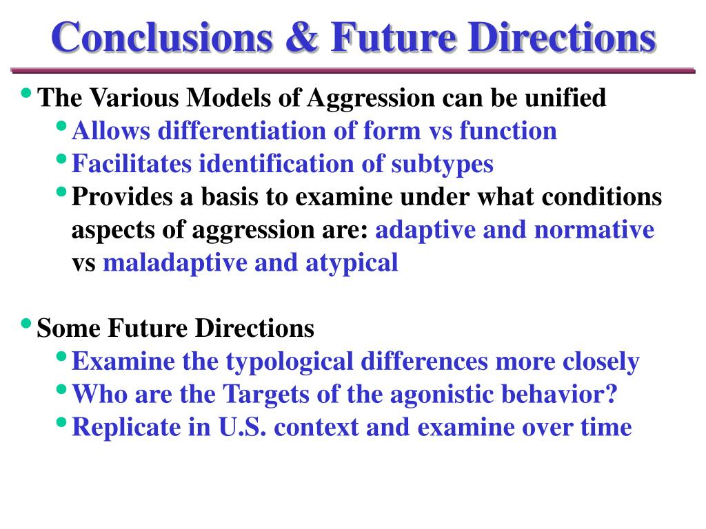 Conclusions & Future Directions