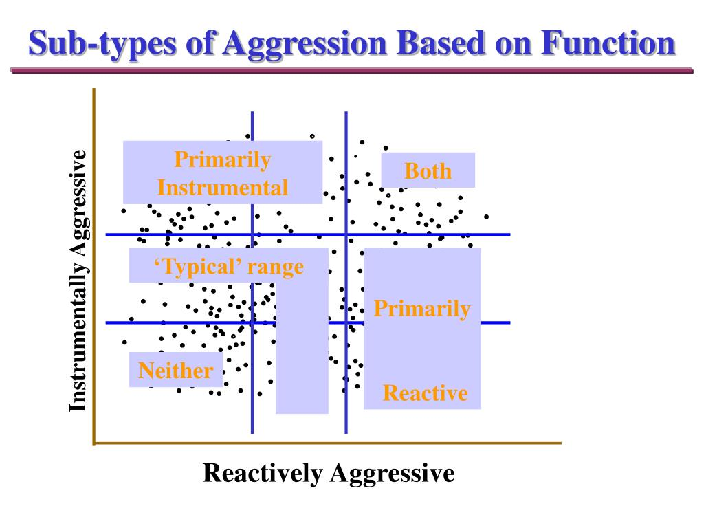 Sub-types of Aggression Based on Function