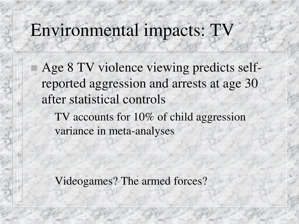Environmental impacts: TV