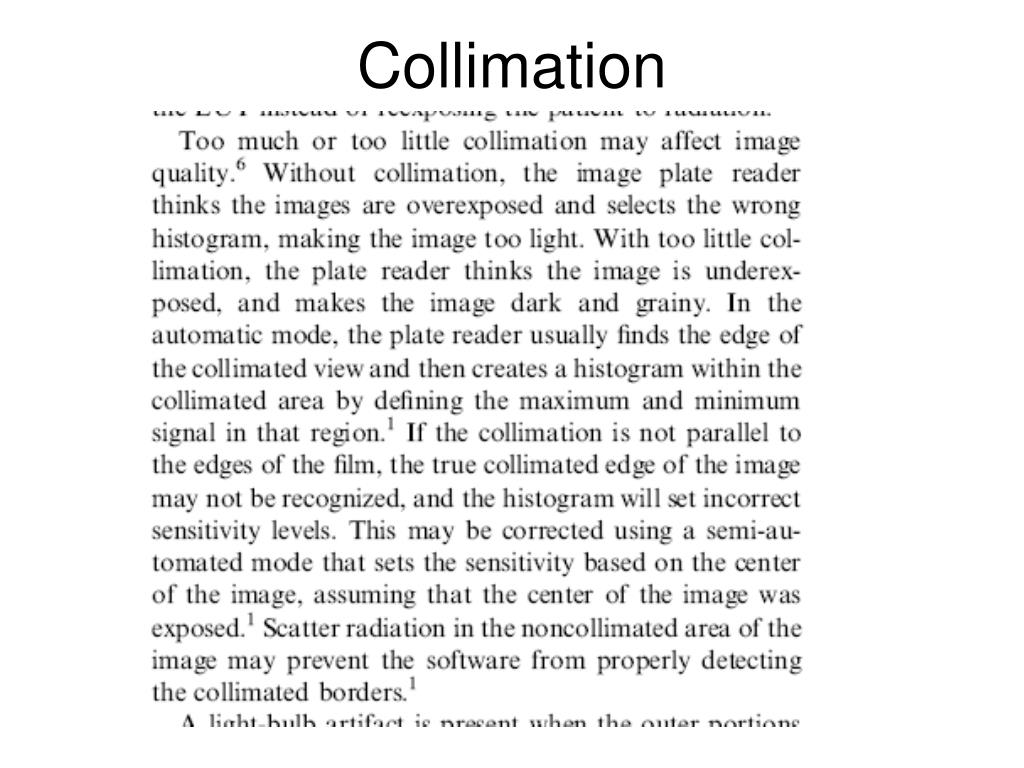 Collimation
