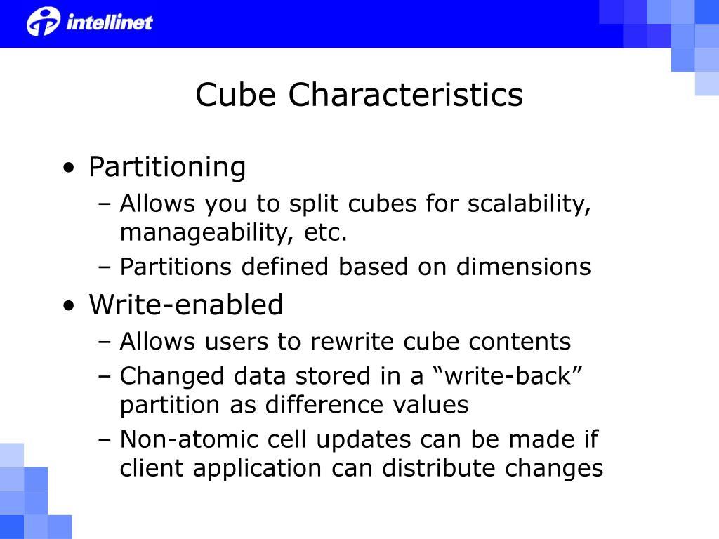 Cube Characteristics