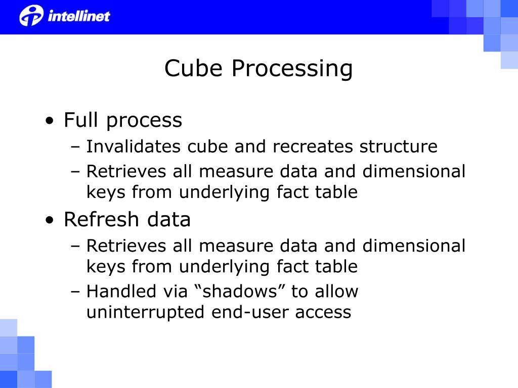 Cube Processing