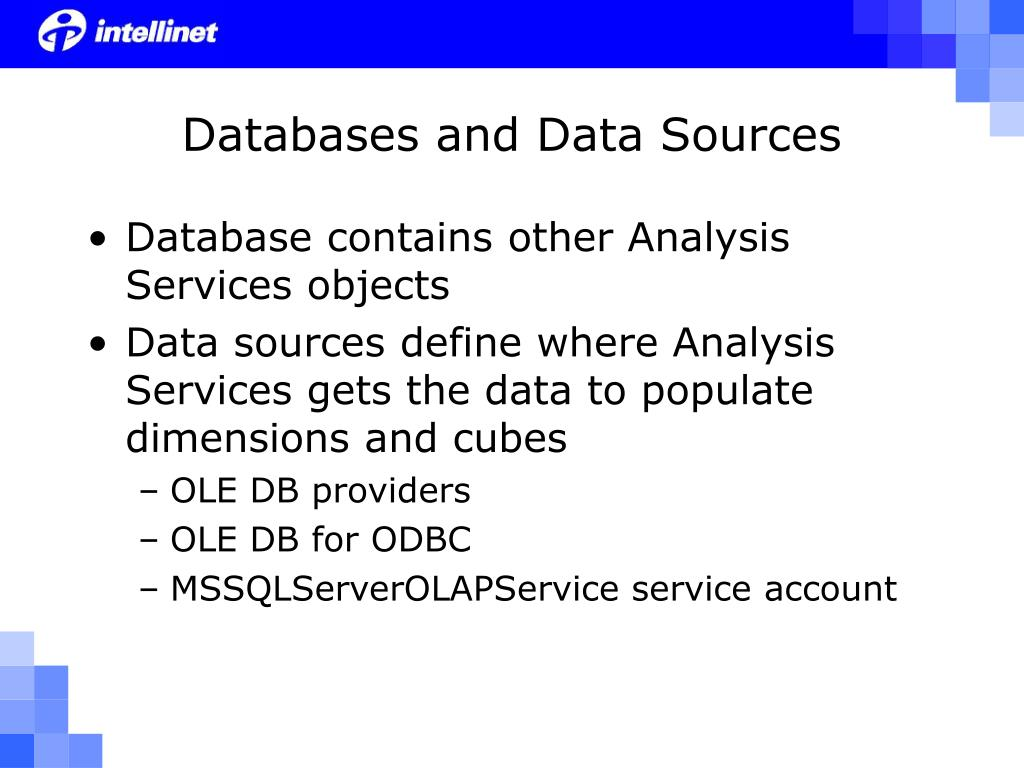 Databases and Data Sources