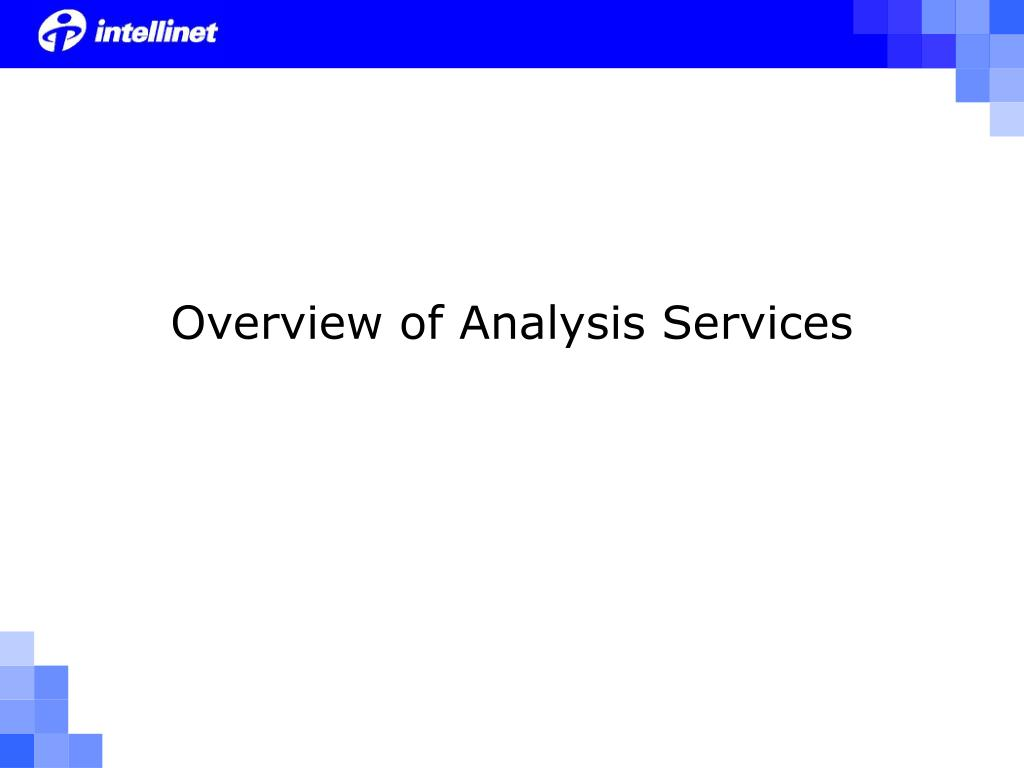 Overview of Analysis Services
