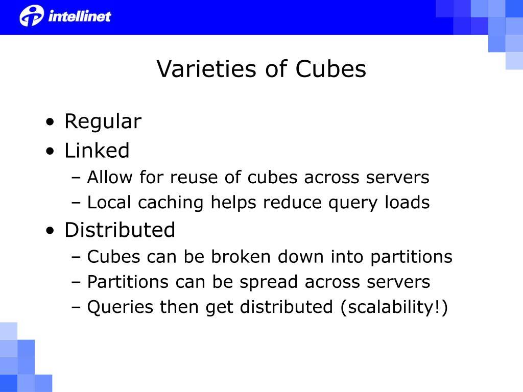 Varieties of Cubes