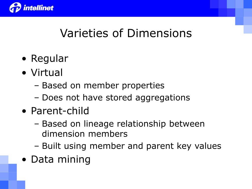 Varieties of Dimensions