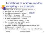 limitations of uniform random sampling an example