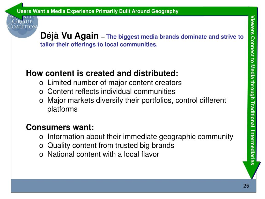 Users Want a Media Experience Primarily Built Around Geography