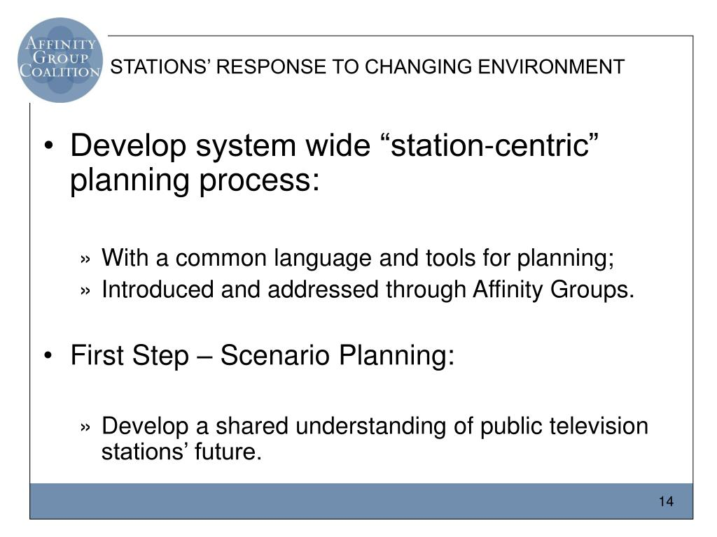 STATIONS' RESPONSE TO CHANGING ENVIRONMENT