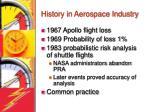 history in aerospace industry
