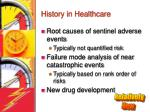 history in healthcare