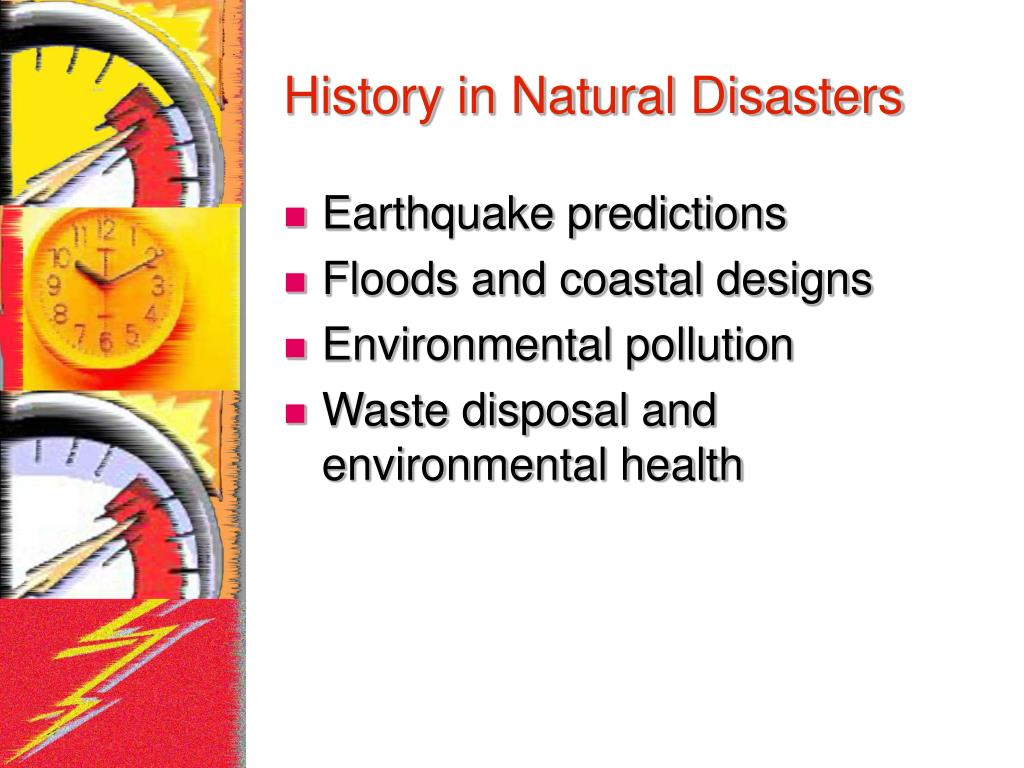 History in Natural Disasters
