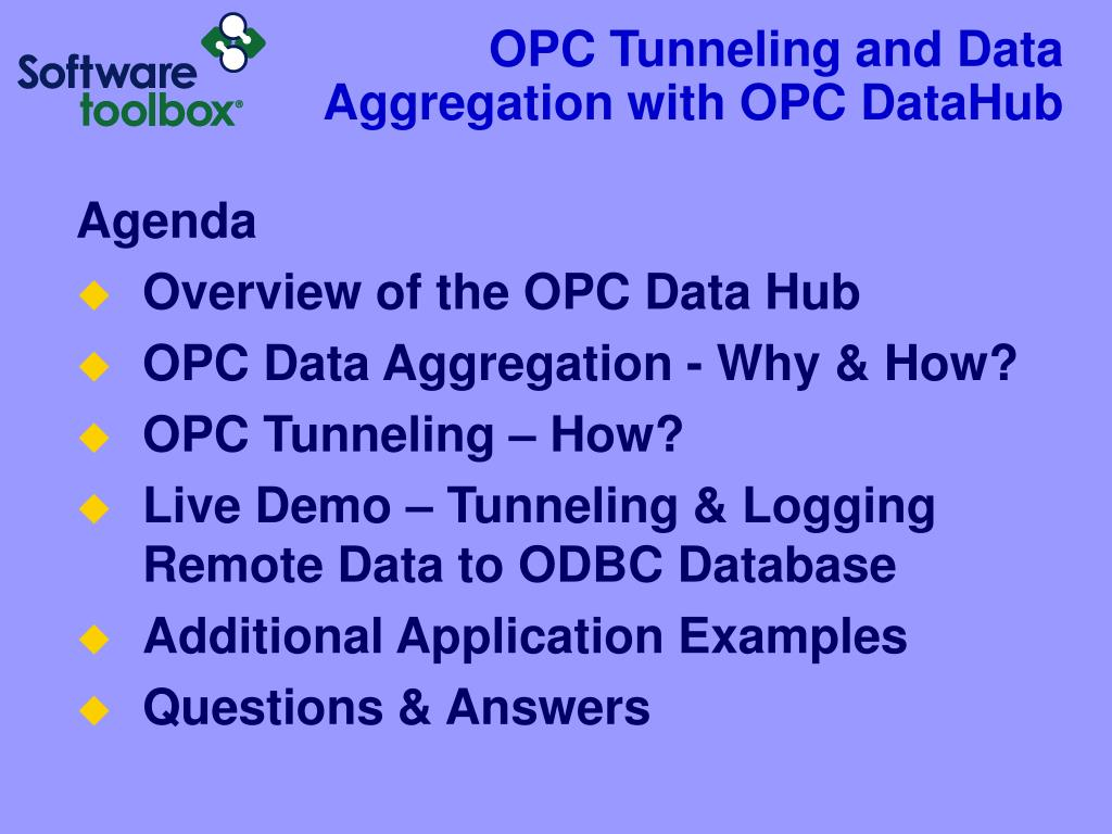 OPC Tunneling and Data Aggregation with OPC DataHub