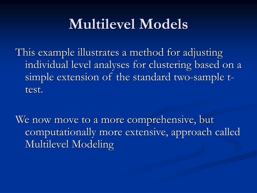 Multilevel Models