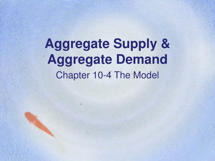 Aggregate supply aggregate demand